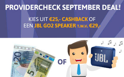 September deal; Cashback of een JBL-speaker cadeau!